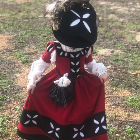 16th C. Red Wool Girl Trossfrau Garb