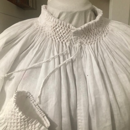 Close up of collar and cuff